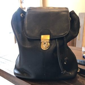 Tignanello butter soft black bucket bag